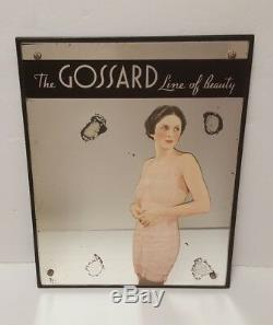 1920s Gossard Line of Beauty Mirror Sign Undergarments Lingerie Vintage Knickers