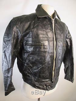 1930s WWII Original German Hartmann Lutwaffe fur-lined Leather Jacket Large, 42