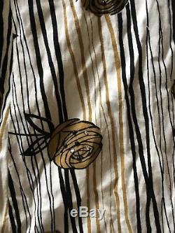 1950s JERRY GILDEN New York Ladies A-Line Cotton Dress with Rhinestones/Beads