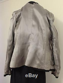 1950s Suit New Look Skirt Jacket Rayon Grey Work Sz 12 M Lined Vintage Retro