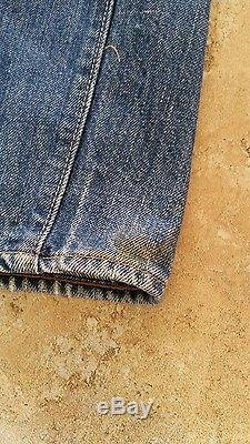 1970's Levi's 501 Jeans Red Line Selvedge Single Stitch 36W 36L Levi Strauss 6