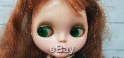 1972 Kenner Blythe Doll Redhead Love N Lace Dress 6 Lines Eyes Knees Work