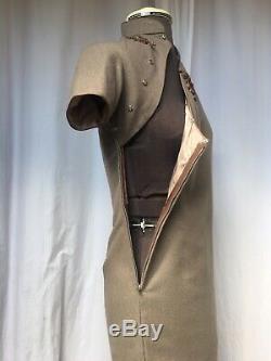 2 Piece 1940s Satin Lined Qipao Dress & Jacket By Marisol Dressmakers Taiwan