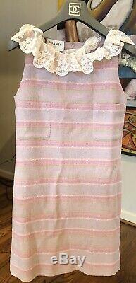 2k CHANEL Rare Vintage 2000 Tweed Mini Shift 36 38 2 4 6 S 00p DRESS Top M Bag