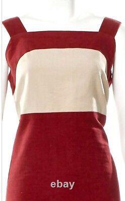 $3,200 Chanel Vintage 2000 Red Velvet Logo Dress Top 34 36 38 2 4 6 S M Gift Bag