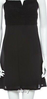 $3,800 Chanel 1997 Vintage Tweed Mini Dress 34 36 38 2 4 6 Black Top Gift Bag S