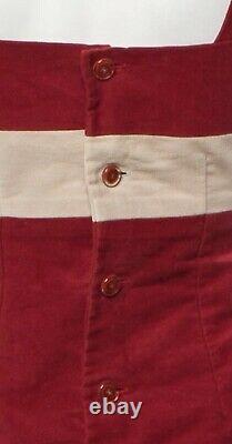 $3200 Chanel Vintage 00 Red Velvet Christmas Dress Top 34 36 38 2 4 6 M Gift Bag