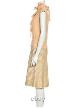 $4,300 NEW CHANEL 2001 Vintage 2pc Set Tweed Dress 36 38 4 6 8 Top GIFT BAG S M