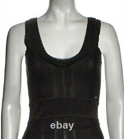 $4,800 CHANEL 2005 Vintage Lace Crochet MIDI Maxi Black DRESS 34 36 38 2 4 6 S M