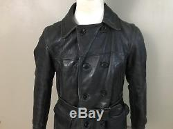 40s 50s Sears Hercules Front Quarter Horsehide Leather Jacket Corduroy Lined