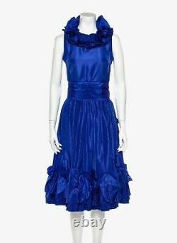 $4500 Chanel Vintage 3p 1980s 80s Dress Jacket Top Gown Belt 34 36 38 2 4 6 S M