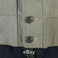 46 XL 1950s Mens NOS Shawl Collar Casual Jacket Plaid Lined Car Club Sanforized