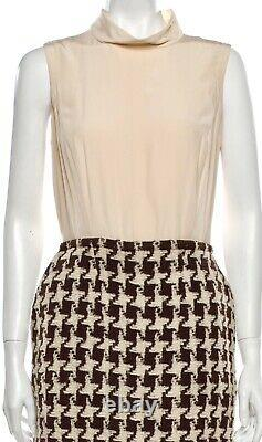 $4850 CHANEL 2009 Vintage Tweed Dress 38 40 42 4 6 8 Top blouse Set GIFT BAG S M