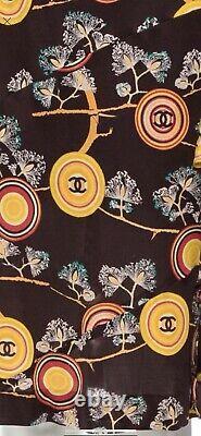 $4k CHANEL 01p Vintage Logo CC Print Midi 2001 DRESS 36 38 40 2 4 6 8 Shirt Top