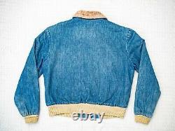 70s Levis Vintage Sherpa Denim Bomber Flight Jacket M / L Clothing LVC USA