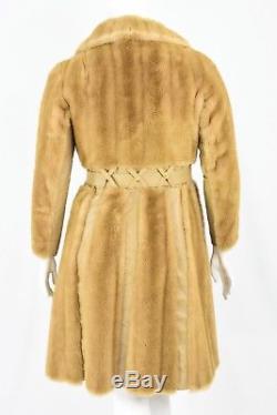 70s Vintage Fit N Flare Coat Size L Blonde Faux Fur A Line Coat Princess