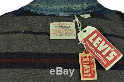 $750 Nwt Levi's Vintage Clothing (lvc) 1915 Blanket Lined Sack Coat Medium