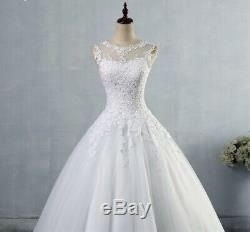 A-Line Wedding Dresses bride Dress gown Vintage plus size Bridal ball lace