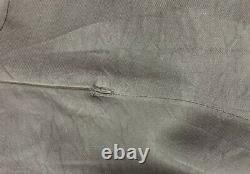 ANN DEMEULEMEESTER Black Silk Crewneck Vtg Aline Shirt Long Maxi Dress 36/4