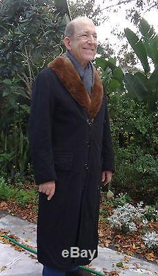 Antique Vintage 1890's Tycoon Man's completely fur lined coat
