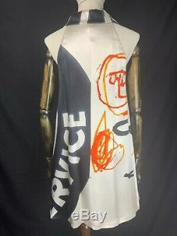 Archive STEPHEN SPROUSE Warhol x Basquiat Pontiac A-line silk dress VINTAGE