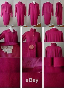 Authentic Vintage G. Gucci Spa Lined Runaway Pink Cocktail Dress Gown Wedding 40