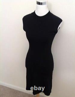 Azzedine Alaia Dress XS Black Bodycon Sleeveless Flip A Line Womens LBD VTG