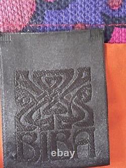 BIBA VINTAGE 60/70s DESIGNER MINI DRESS TOP SIZE 10 RARE COLLECTABLE PINK RED
