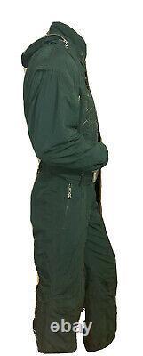 BOGNER Vintage One Piece Double Lined Ski Suit Green (Men Size 38) 9023-424