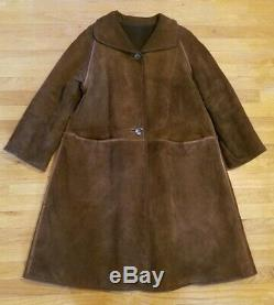 BONNIE CASHIN SILLS 1960'S VINTAGE LEATHER COAT Excellent Lined Large Medium