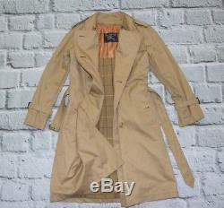 BURBERRYS jacket Burberry's coat beige checks vintage belt lined cotton 8 women