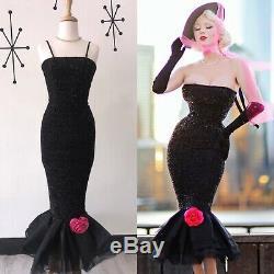 Barbie x Unique Vintage MEDIUM Solo In The Spotlight Strapless Wiggle Dress