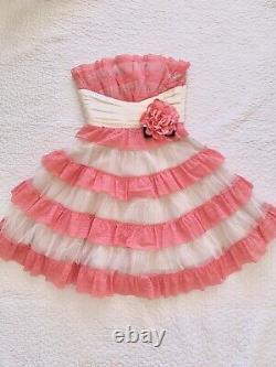 Betsey Johnson Evening Dress 2 XS Cupcake Babydoll Corset Lace Vintage Lined