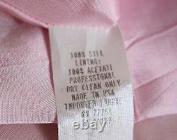 Betsey Johnson Vintage 100% Silk Candy Stripe Dress withTulle Lining, sz 8