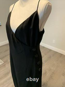 Bill Blass Couture Black Cocktail Dress Lined in Ivory Silk size 14 Ex Cond