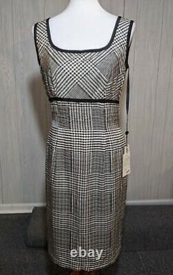 Bill Blass Womens Vintage 2 Piece Silk Houndstooth Dress & Jacket Size 10 NWT