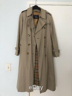 Burberry Check removal Wool Lined Long Trench Coat