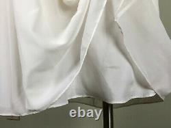 CACHE Vintage Marilyn Monroe Style White Chiffon Floaty Halter Dress Size 12