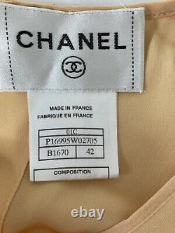 CHANEL 2001 Vintage Cruise Collection Tweed Silk Dress Size 42 01C