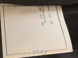 CHANEL Vintage 97P RUFFLED BLACK DRESS CC logo Ecru Dots Silk lining FR38- FR34