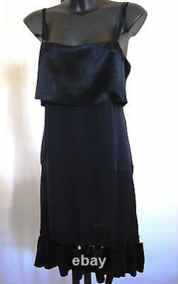 CHLOE RUNWAY DRESS silk black Vintage Phoebe Philo 38 S M 6 8 COLLECTOR! Chloé