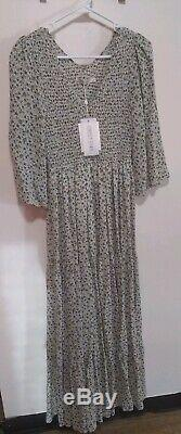 CHRISTY DAWN NWT The Basil Dress (Lined) In Teal Calico SOLD OUT SIZE M/L