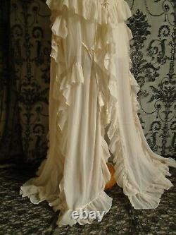 CORSET DRESS VINTAGE 30's WEDDING EMBROIDERY BOHEMIAN LAYERED FREE SPIRIT 14 16