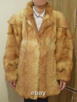 COYOTE FUR Coat Vintage Winter Warm GORGEOUS LUXERY Womens Chest 42 (65)