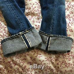 Ca 1966 Big E Levi 501 Jeans Red Lines 33 x 34 (31.5 w x 31.5 l measured)