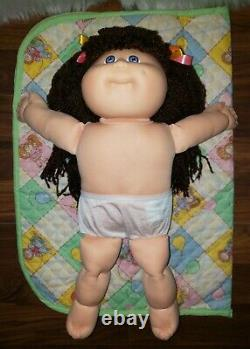 Cabbage Patch Kid- Hasbro Designer Line-Brown Double Ponies-Violet Eyes-Clothes