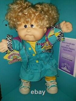 Cabbage Patch Kid Hasbro Designer Line Elisabeth Sabine- HTF Brown Eyes -NIB