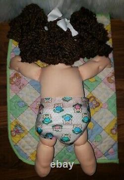 Cabbage Patch Kid- Hasbro Designer Line -Headmold #45-Popcorn Re-Root Clothes