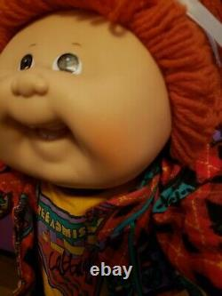 Cabbage Patch Kid Headmold #19-Rare Brown Eyes-Factory-Designer Line Clothes