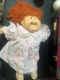 Cabbage Patch Kids Designer Line #19 Red Crimped Cornsilk Freckles Doll 1985